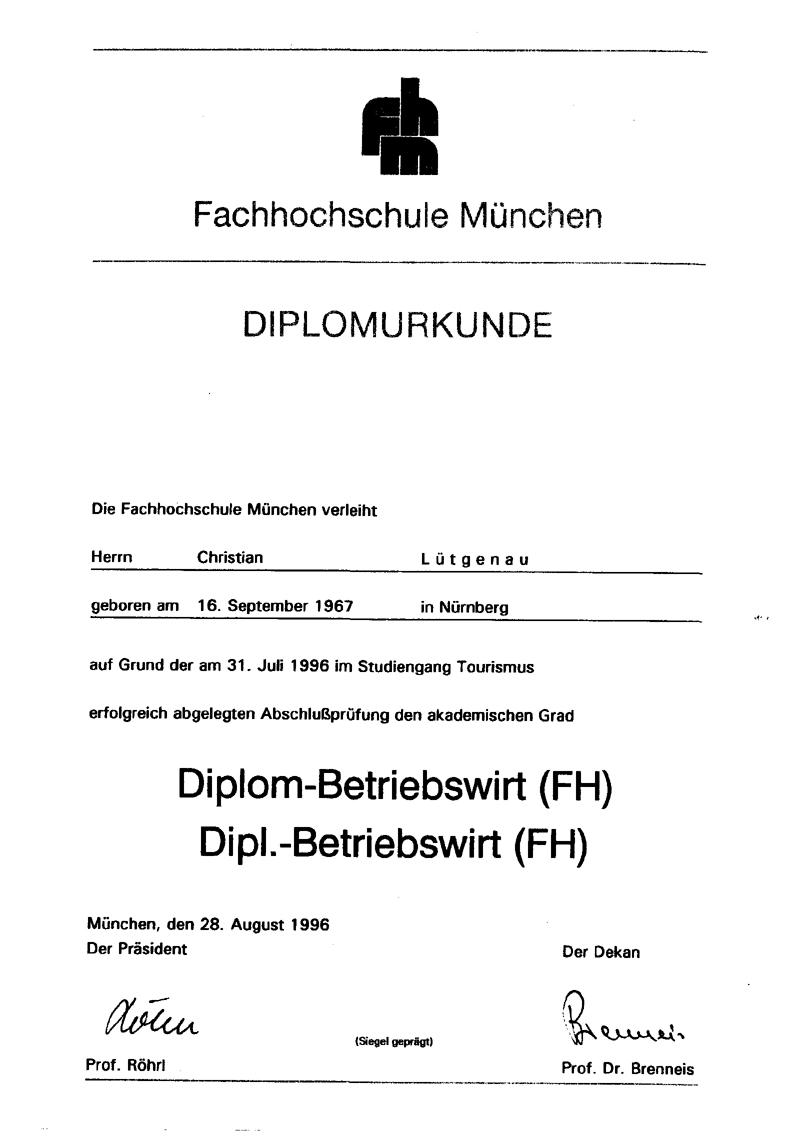 Tolle Diplom Betriebswirt Bilder - Entry Level Resume Vorlagen ...